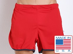 American Jock Aktivo Gym Short w/Built in Jock Red/Navy