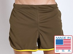 American Jock Aktivo Gym Short w/Built in Jock Olive/Yellow