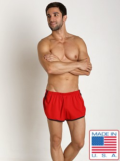 American Jock Aktivo Extreme Runner Short Red/Navy