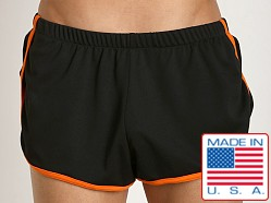 American Jock Aktivo Extreme Runner Short Black/Orange