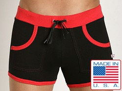 American Jock Fitness Training Short Black/Red