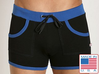 American Jock Fitness Training Short Black/Royal