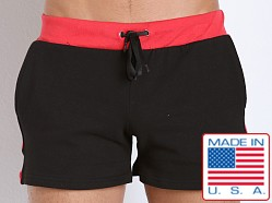 American Jock Fitness Warm-Up Short Black/Red