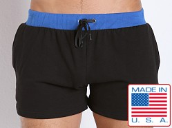 American Jock Fitness Warm-Up Short Black/Royal
