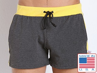 American Jock Fitness Warm-Up Short Charcoal/Lemon