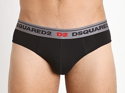 DSQUARED Cotton Stretch Jock Brief Black