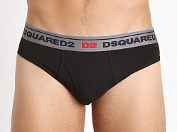 DSQUARED Cotton Stretch Brief Black
