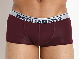 DSQUARED Winter Micromodal Trunk Bordeaux