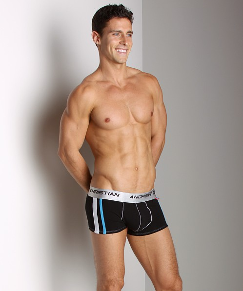 Andrew Christian Shock Jock Flashbach Tech Boxer Black