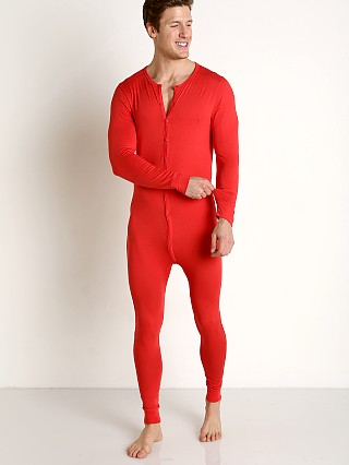 Jack Adams Union Suit Red