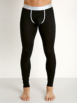 Jack Adams Lux Modal Pouch Long Johns Black
