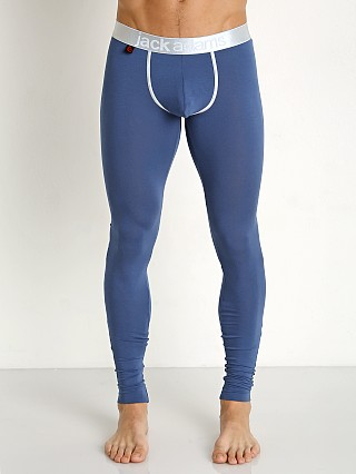 Jack Adams Lux Modal Pouch Long Johns Newport Blue