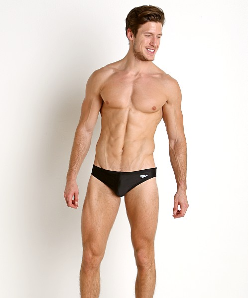 "Speedo Xtra Life Lycra Solar 1"" Swim Brief Black"
