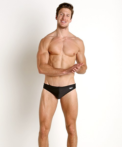 "Speedo PowerFlex Eco Solar 1"" Swim Brief Black"