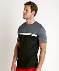Speedo Colorblock Sun Block Swim Tee Speedo Black, view 3