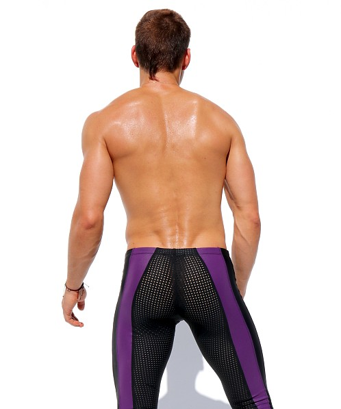 Rufskin Versus Mesh Sport Leggings Black/Purple
