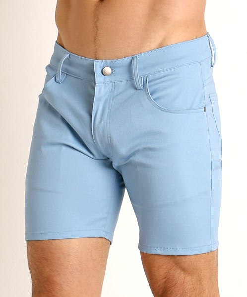LASC Cotton Twill 5-Pocket Shorts Sky