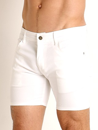 Complete the look: LASC Cotton Twill 5-Pocket Shorts White