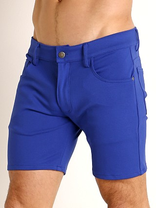 Complete the look: LASC Stretch Jersey 5-Pocket Shorts Cobalt