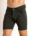 LASC Stretch Jersey 5-Pocket Shorts Charcoal, view 3