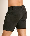 LASC Stretch Jersey 5-Pocket Shorts Charcoal, view 4