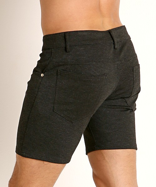 LASC Stretch Jersey 5-Pocket Shorts Charcoal