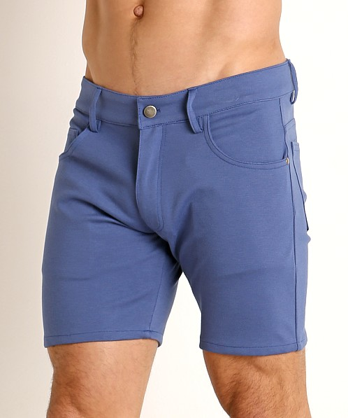 LASC Stretch Jersey 5-Pocket Shorts Denim