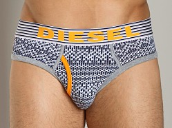Diesel Sweater Motif Blade Brief Navy