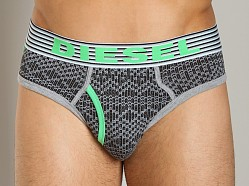 Diesel Sweater Motif Blade Brief Black