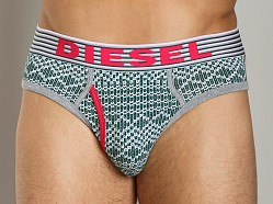 Diesel Sweater Motif Blade Brief Green