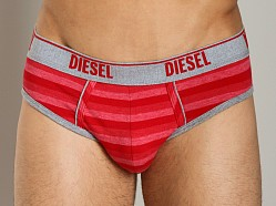 Diesel Heather Stripes Andre Brief Red
