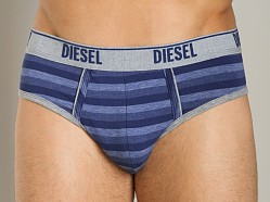 Diesel Heather Stripes Andre Brief Blue