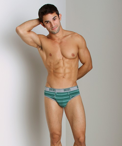 Diesel Heather Stripes Andre Brief Green