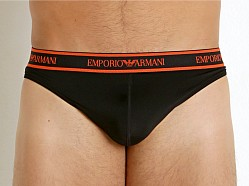 Emporio Armani Essential Microfiber Thong <u>clothing</u> Black