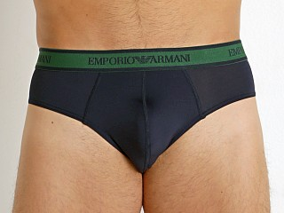 Emporio Armani Essential Microfiber Brief Navy Blue