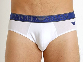 Emporio Armani Shiny Logoband Brief White