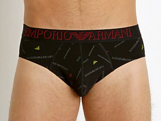 Emporio Armani Logo Maniac Brief Printed Black