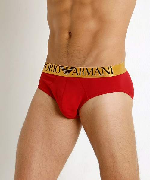 Emporio Armani Cotton X-Mas Brief Ruby