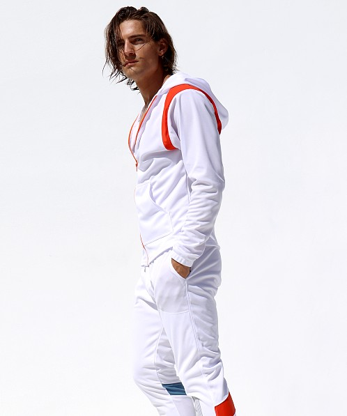 Rufskin Avalanche Hooded Sports Jacket White