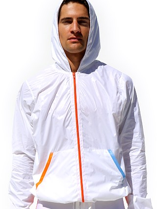 Complete the look: Rufskin Vento Nylon Windbreaker Hoodie White