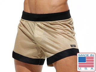 Rufskin Dunk Mesh Panel Sport Shorts Gold