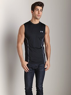 Under Armour Heatgear Sonic Armourvent Sleeveless Tee Black