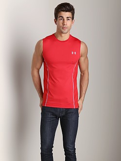 Under Armour Heatgear Sonic Armourvent Sleeveless Tee Red