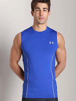 Under Armour Heatgear Sonic Armourvent Sleeveless Tee Royal