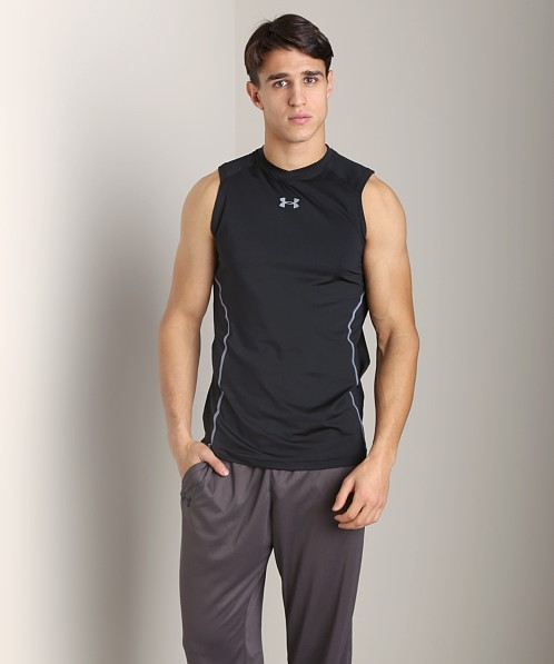 Under Armour Heatgear Sonic Fitted Tank Top Black