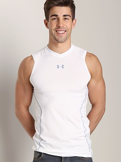 Under Armour Heatgear Sonic Fitted Tank Top White