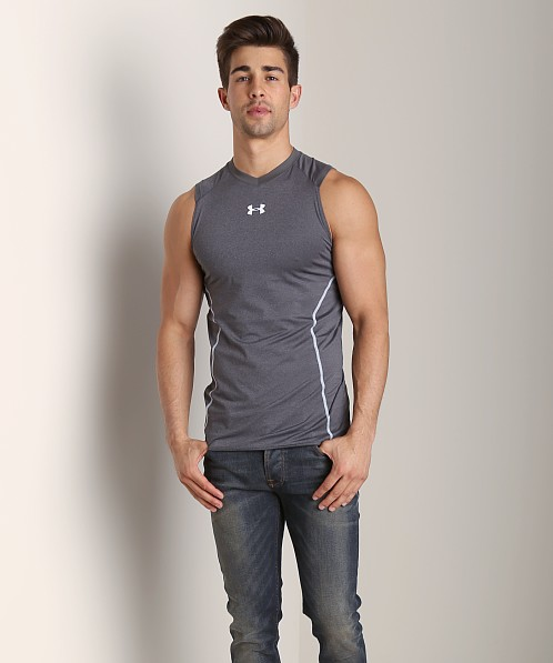 Under Armour Heatgear Sonic Fitted Tank Top Carbon