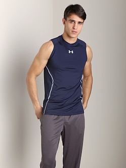 Under Armour Heatgear Sonic Fitted Tank Top Navy