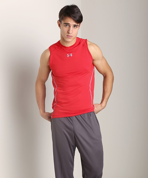 Under Armour Heatgear Sonic Fitted Tank Top Red