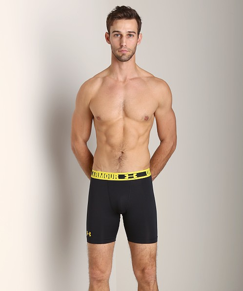 Under Armour Heatgear Sonic Compression Short Black/Taxi